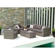 SEI Bristow Outdoor Deep Seating Set - 5 Piece - Natural (OD7743)