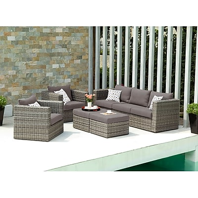 SEI Bristow Outdoor Deep Seating Set - 5 Piece - Natural (OD7743)