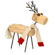 Modern Day Accents Reno Wood Reindeer Figurine