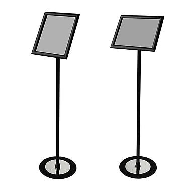 FuTech – Porte-enseigne sur pied portrait/paysage FSH011B, pour enseignes de 10,5 po x 13 po, noir