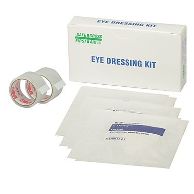 Safecross Eye Dressing Kit with 6 Eyepads & 1 Tape 1/2