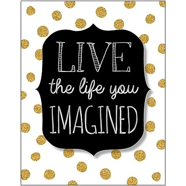 Artissimo Designs Live The Life You Imagined Foil Embellished Gallery-Wrapped Canvas, 19