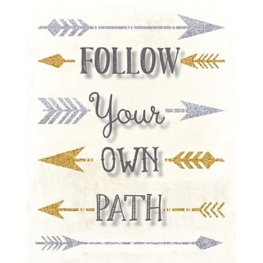 Artissimo Designs Follow Your Own Path Foil Embellished Gallery-Wrapped Canvas, 19
