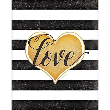 Artissimo Designs Love Pattern Foil Embellished Gallery-Wrapped Canvas, 19
