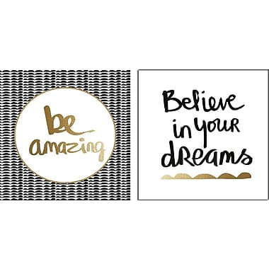Artissimo Designs – Toiles galeries « Be Amazing »/« Believe », 2 pièces, 12 x 24 po (68381EMCD1)