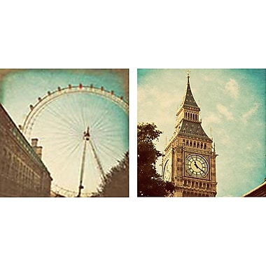 Artissimo Designs London Sights I & Ii 2 Piece Gallery-Wrapped Canvas, 12