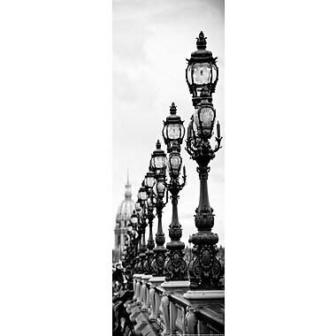 Artissimo Designs – Toile galerie du pont Alexandre-III en noir et blanc, 36 x 12 po (60956CPCD0)