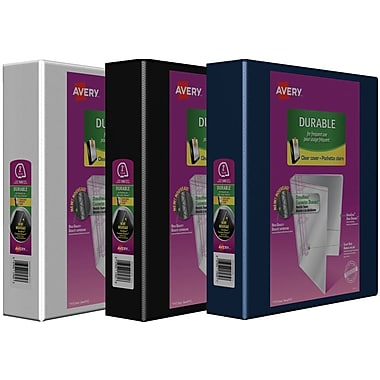 Reliures de présentation Easy-Turn robustes de Avery, 2 po