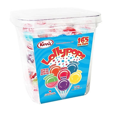 Kerr's Assorted Lollypop, 165/Pack