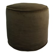 R&MIndustries Majestic Plush Pouf Ottoman; Chocolate