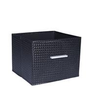 Household Essentials Open Storage Bin w/ Aluminum Handle; Black