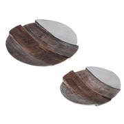 Finesse D cor 2 Piece Round Aluminum Plate Set