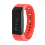 RBX Waterproof Activity Tracker with Notification Previews and Wrist Sense Technology, Red