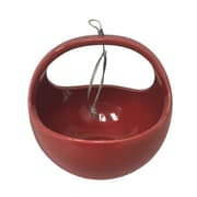 Arcadia Garden Products Urban Gardening Ceramic Hanging Planter; Red