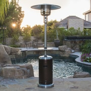 Belleze Commercial Propane Patio Heater; Stainless Steel-Hammered Bronze