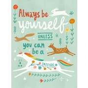 Oopsy Daisy Unless You Can Be a Unicorn Wall Mural; 35'' H x 28'' W x 0.02'' D