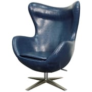 New Pacific Direct Max Swivel Wingback Chair; Distressed Blue