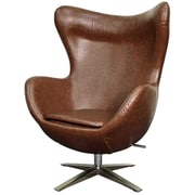 New Pacific Direct Max Swivel Wingback Chair; Distressed Brown
