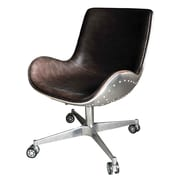New Pacific Direct Abner Desk Chair; Distressed Java by