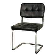 New Pacific Direct Bauer Side Chair (Set of 2); Black