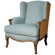 New Pacific Direct Marie Wing Armchair; Soft Blue/Burlap