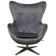 New Pacific Direct Max Fabric Swivel Rocker Lounge Chair