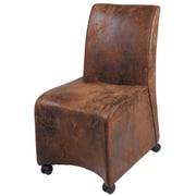 New Pacific Direct Conrad Fabric Slipper Chair (Set of 2)