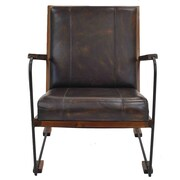 New Pacific Direct Denka Leather Armchair
