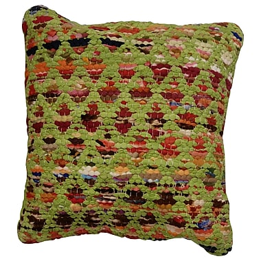 LR Resources Harlequin Throw Pillow; Green / Multi