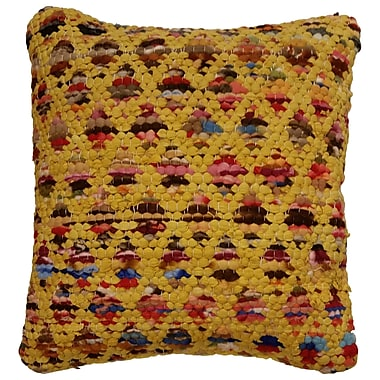 LR Resources Harlequin Throw Pillow; Yellow / Multi