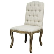 New Pacific Direct York Fabric Side Chair (Set of 2); Rice