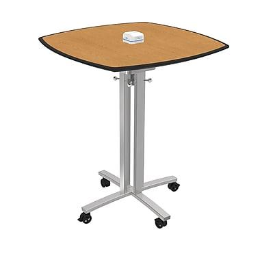Palmer Hamilton 3' Square Conference Table; Golden Oak