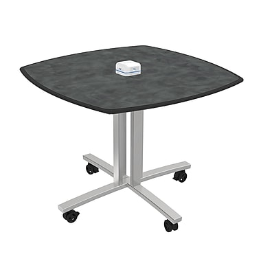 Palmer Hamilton 3' Square Conference Table; Brushed Pewter