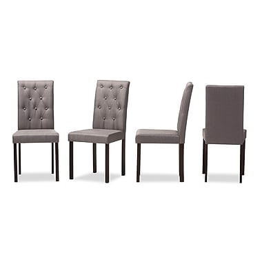 Wholesale Interiors Baxton Studio Andrew Side Chair (Set of 4); Gray