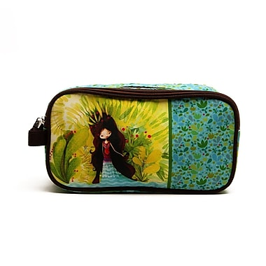 Ketto Double Pencil Case, Wolf Lady