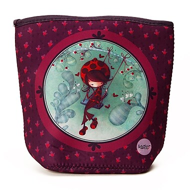 Ketto Neoprene Snack Bag, Ladybug on a Swing