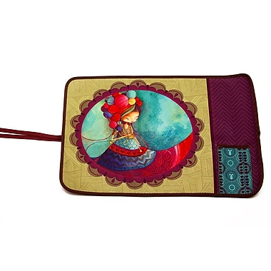 Ketto Neoprene Foldable Placemat, Knitting Lady