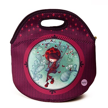 Ketto Neoprene Sweet Lunch Bag, Ladybug on a Swing