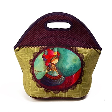 Ketto Neoprene Sweet Lunch Bag, Knitting Lady