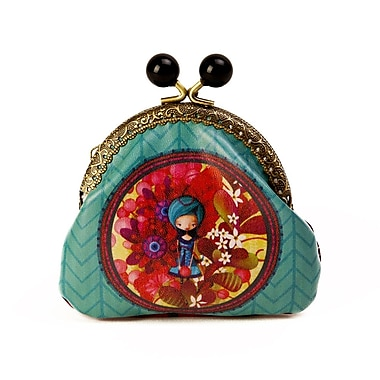 Ketto Coin Purse, Blue Lady