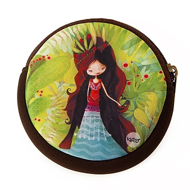 Ketto Neoprene Coin Purse, Wolf Lady