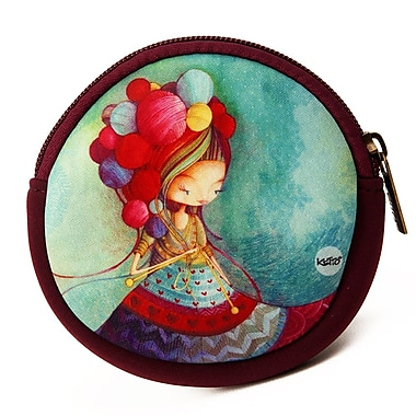 Ketto Neoprene Coin Purse, Knitting Lady