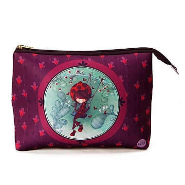 Ketto Neoprene Cosmetic Bag, Ladybug on a Swing