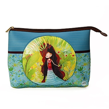 Ketto Neoprene Cosmetic Bag, Wolf Lady