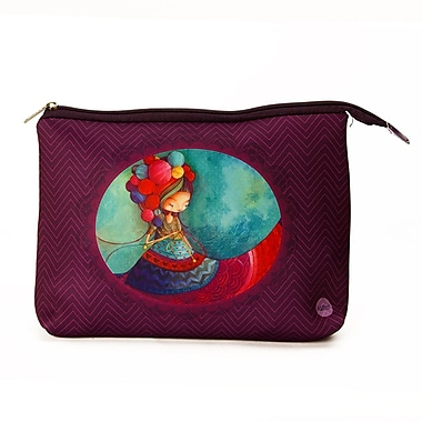 Ketto Neoprene Cosmetic Bag, Knitting Lady
