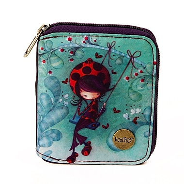 Ketto Small Wallet, Ladybug on a Swing