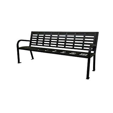 Paris Site Furnishings – Banc commercial en acier Lasting Impressions, 5,5 pi, noir (460-224-0006)