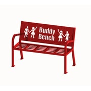Lasting Impressions by Paris Site Furnishings Buddy Bench, 4 ft, English