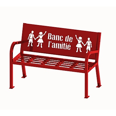 Lasting Impressions by Paris Site Furnishings Buddy Bench, 4 ft, French, Red (460-344-0010)