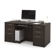 "Bestar Embassy 66"" Executive Desk Kit, Dark Chocolate (60850-79)"